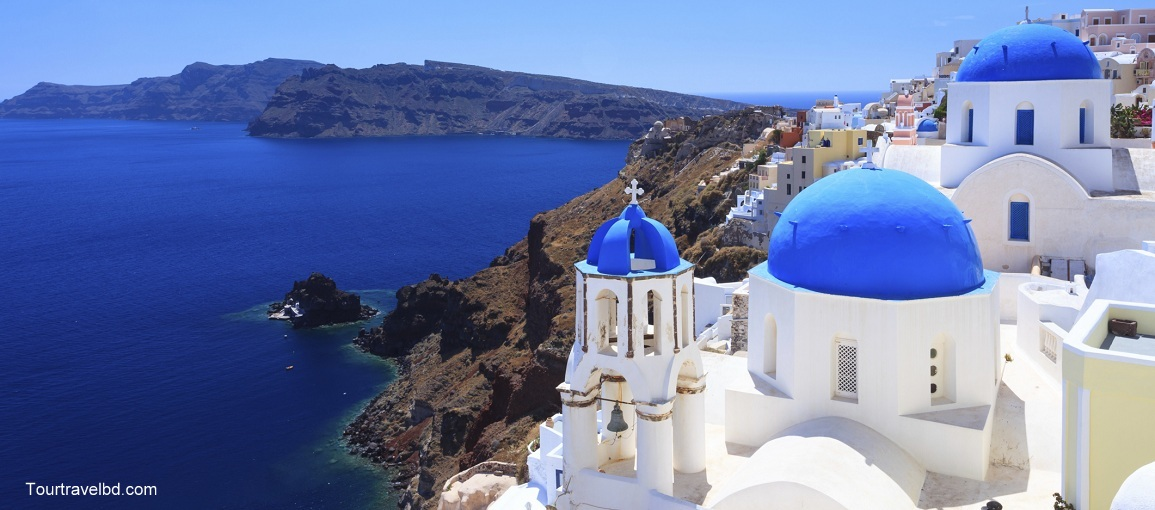 Blue Dome Churches Oia Santorini